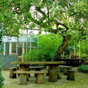 vergaderlocatie Apeldoorn Het Glazen Huis duurzaam groen tuin