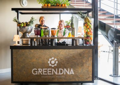 Evenementencatering GreenDNA smoothiebar